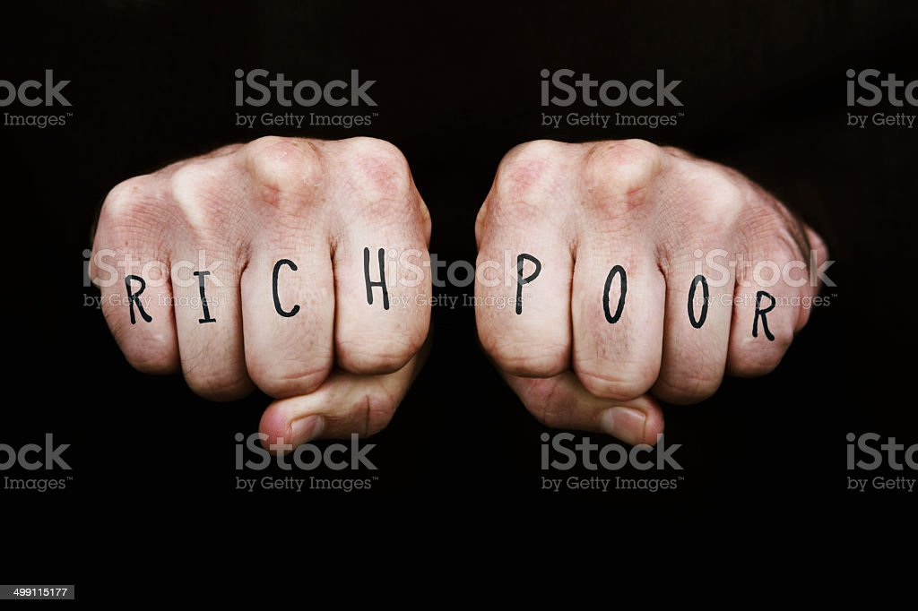 Rich and Poor royalty-free stock photo