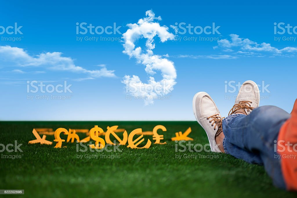 Rich and successful young man stock photo