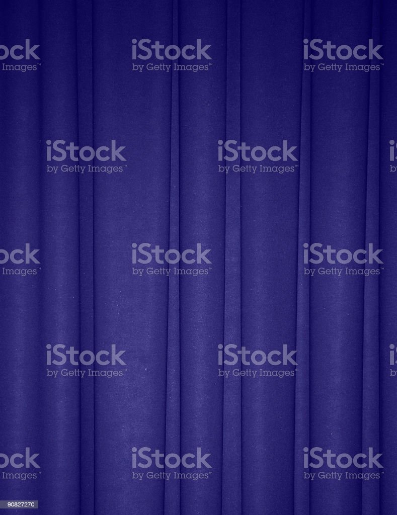 Rich blue draped backdrop background stock photo