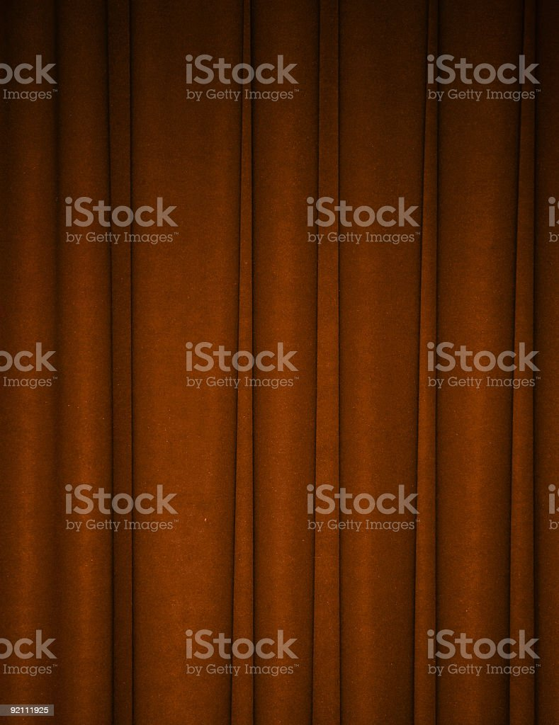 Rich brown draped backdrop background stock photo