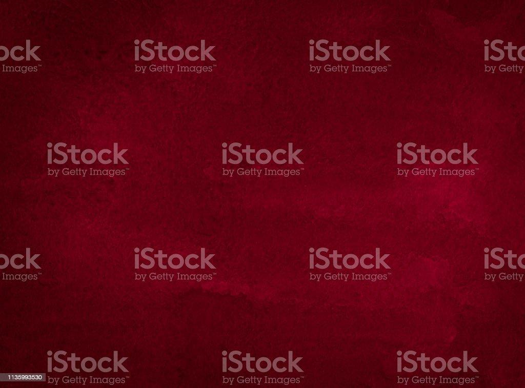 Cadre aquarelle riche Bordeaux avec des traits déchirés et des rayures. Fond abstrait pour la conception, les mises en page et les modèles photo libre de droits