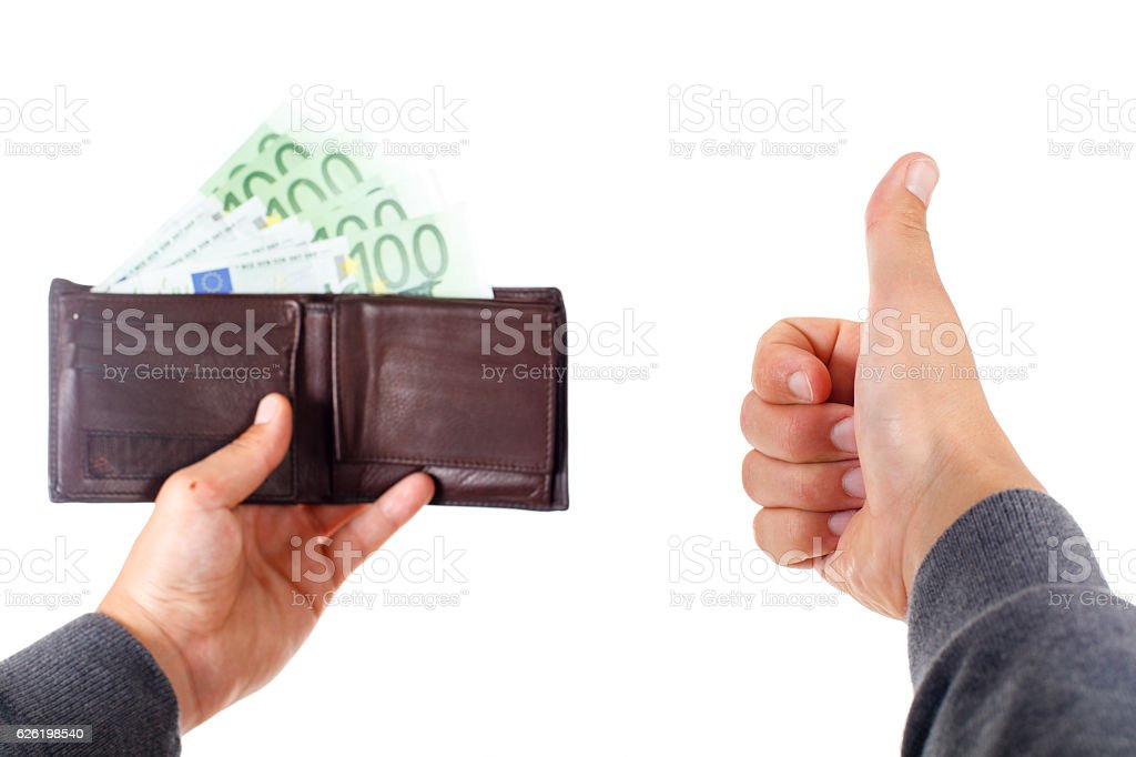 Rich businessman stock photo
