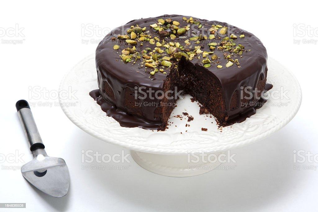 Rich dark chocolate cake stock photo