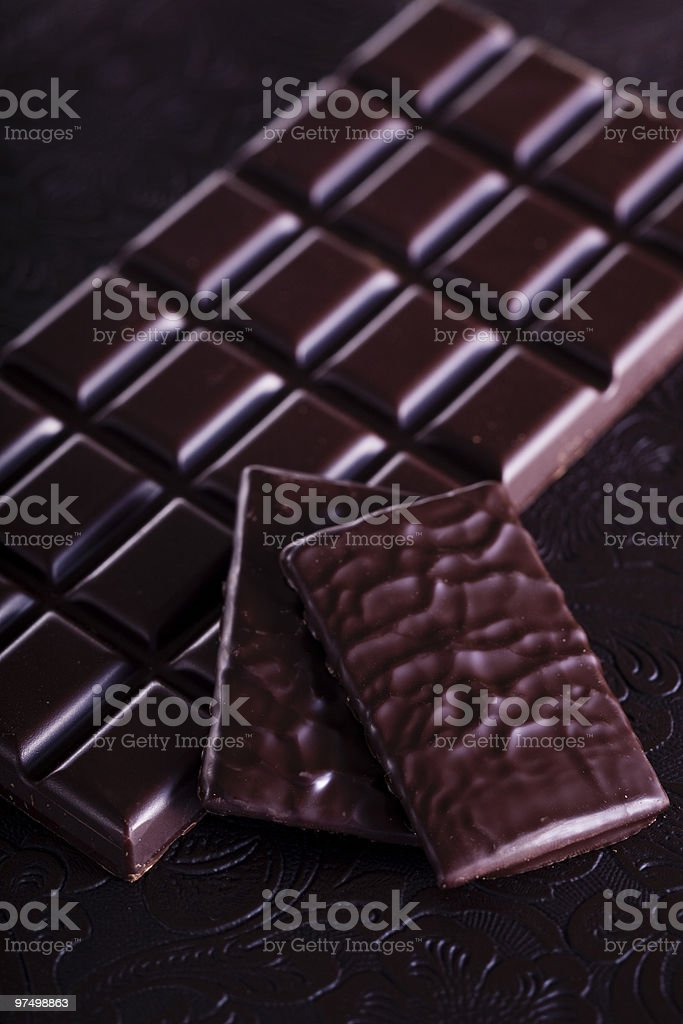 Rich dark chocolate royalty-free stock photo