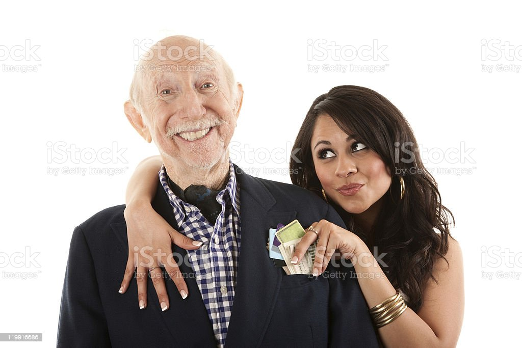 Younger woman with older man