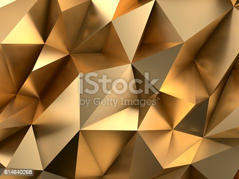 istock Rich Gold Abstract Background 3D Rendering 614640268