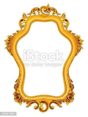istock Rich Golden Baroque Frame 532670627