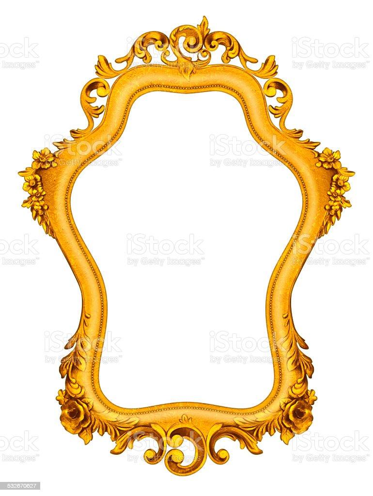 Rich Golden Baroque Frame stock photo