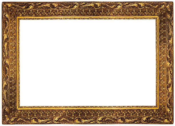 Rich Golden Frame stock photo