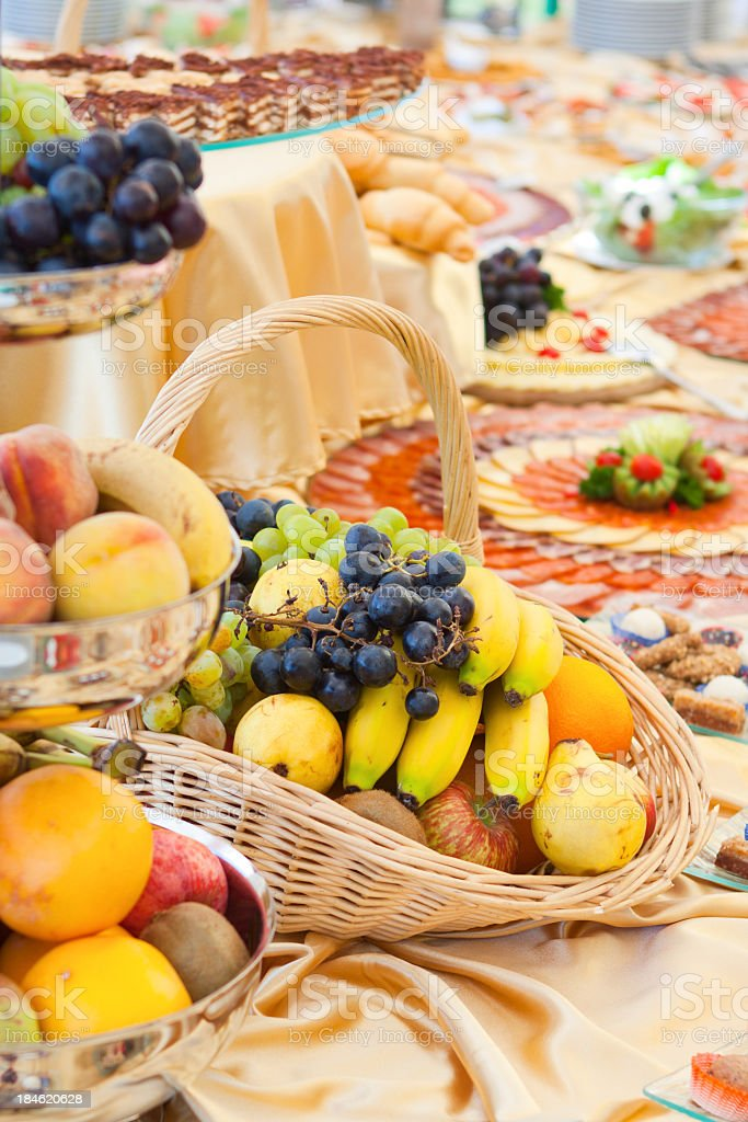 Rich healthy catering royalty-free stock photo
