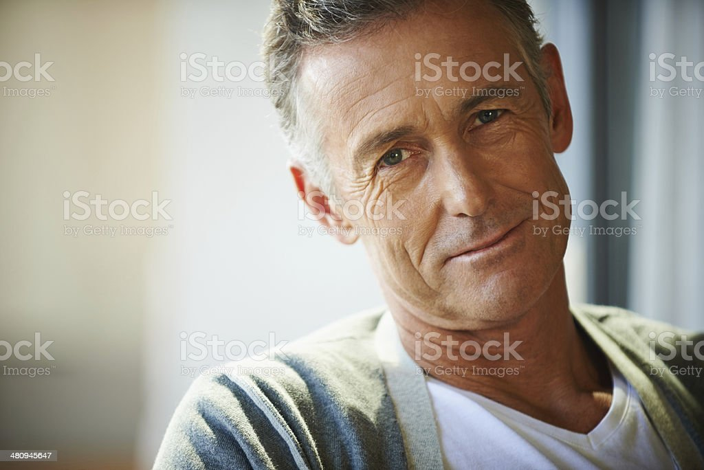 Rich in life experience stock photo