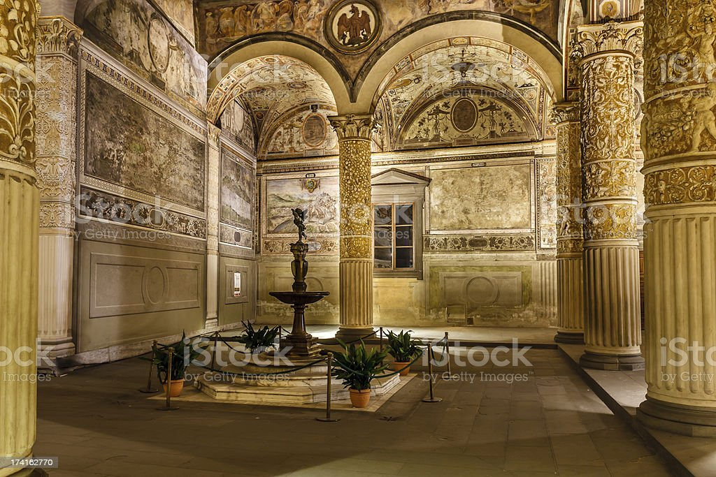 Rich Interior of Palazzo Vecchio (Old Palace) stock photo