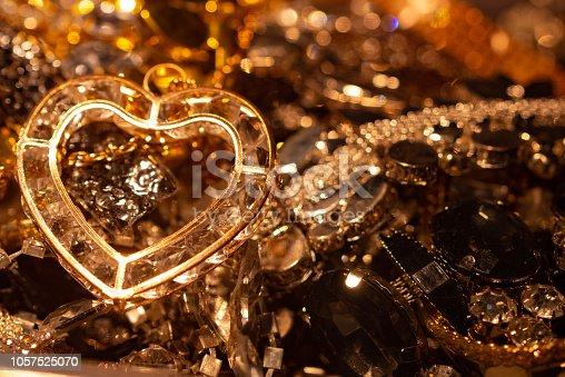 rich jewelery chest, close up photo,   jewelery box