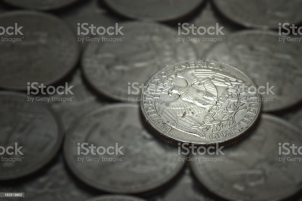 Rich Man's Quarter stock photo