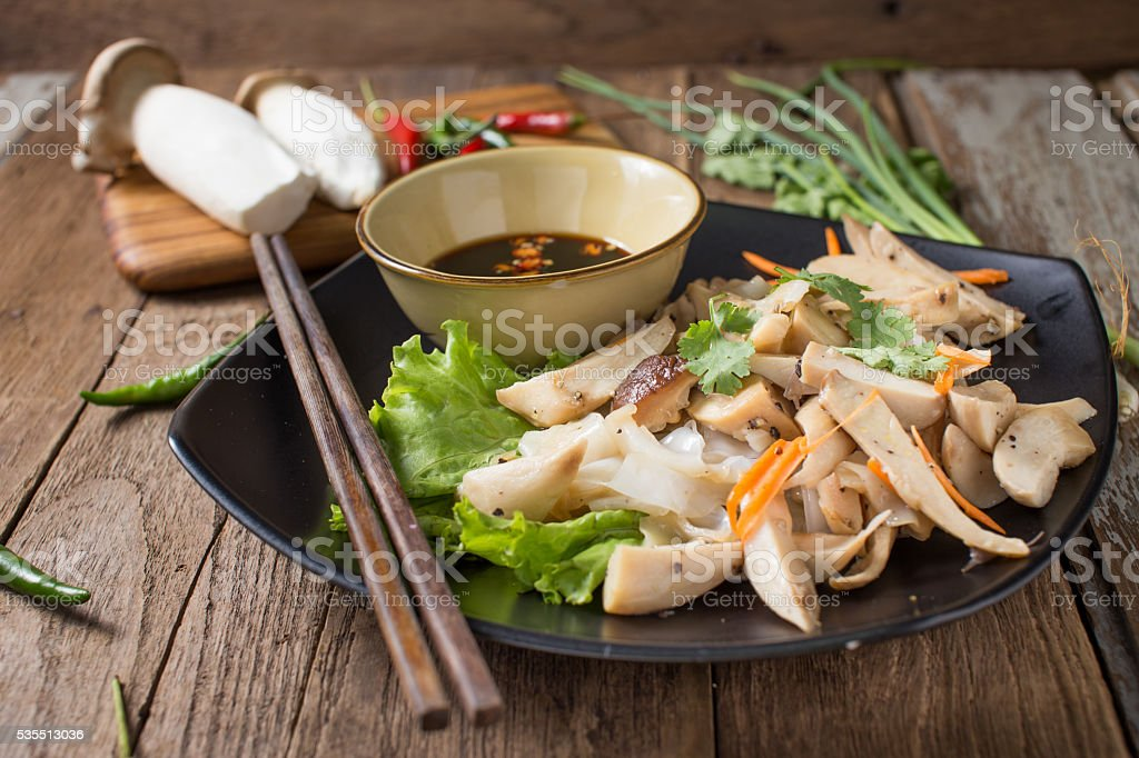 rich noodle paste with bean sprout stock photo