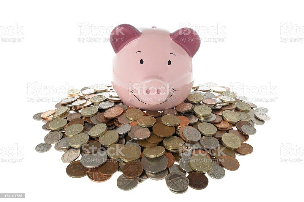 Rich Piggy bank royalty-free stock photo