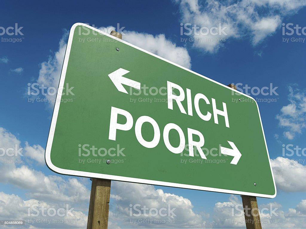 rich poor stock photo