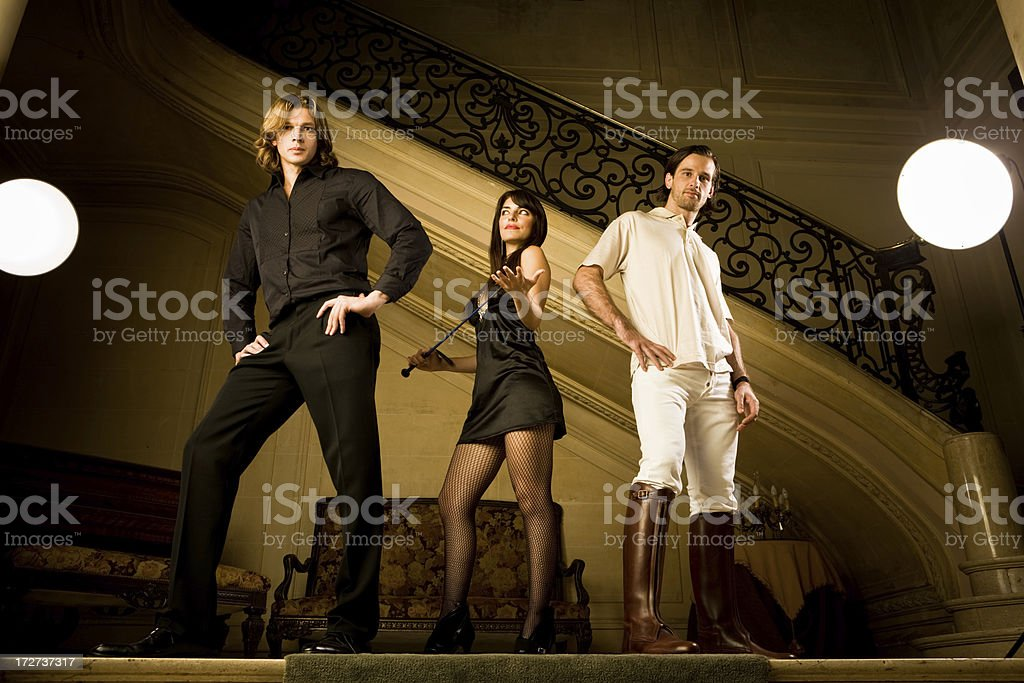 Rich trio royalty-free stock photo