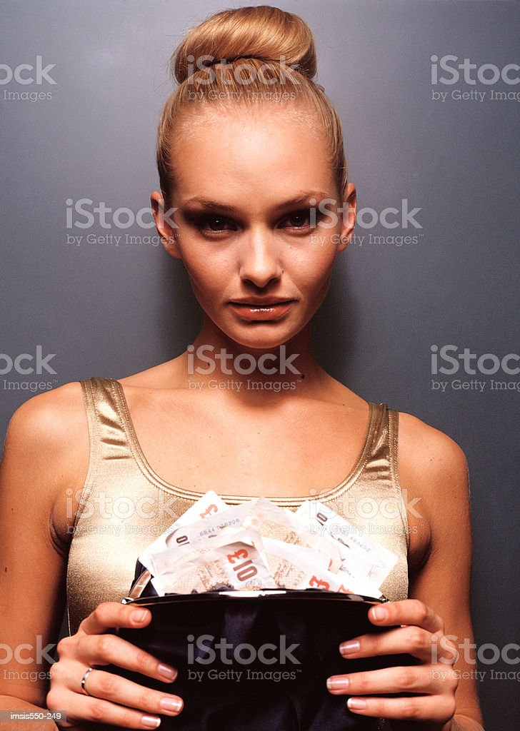 Rich young woman royalty-free stock photo