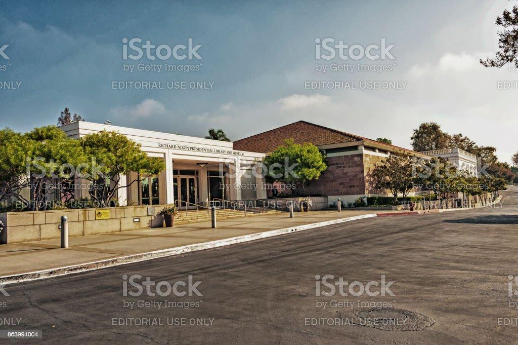 Richard Nixon Presidental Library and Museum stock photo