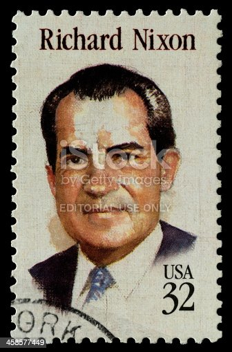 Beijing, China - December 2nd, 2011: US postage stamp, Richard Nixon(1913–1994),was the 37th President of the United States, serving from 1969 to 1974.