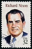 'Richmond, Virginia, USA - December 4th, 2012: Cancelled Stamp From The United States Featuring The American President, Richard Nixon.'