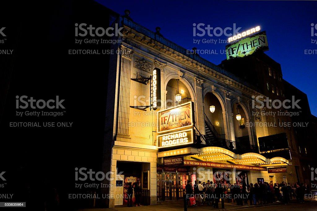 Richard Rodgers Theatre stock photo