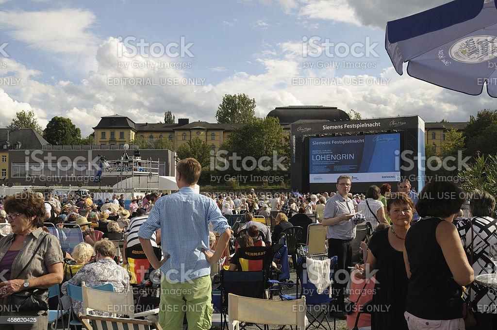 Richard Wagner Bayreuth stock photo