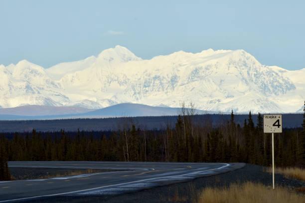 Richardson Highway Alaska stock photo