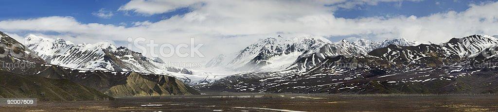 Richardson Hwy view at the glacier in Alaska Range royalty-free stock photo