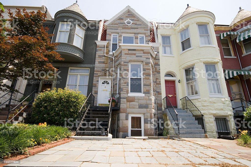 Richardsonian Romanesque Style Row House Home Formstone