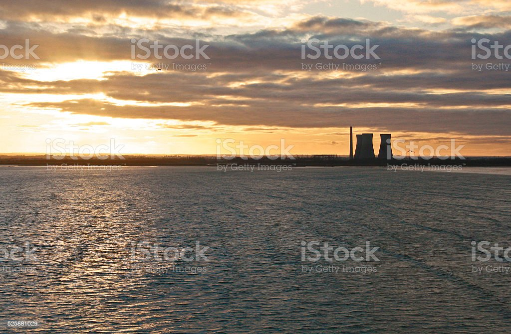 Richborough Power Station stock photo