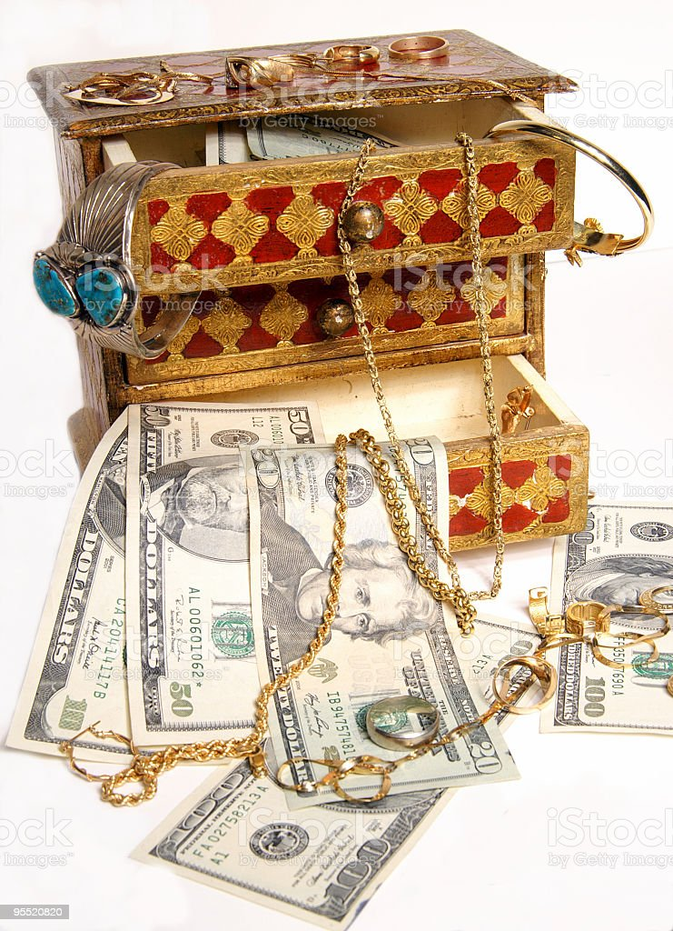 Riches in your jewelry box royalty-free stock photo