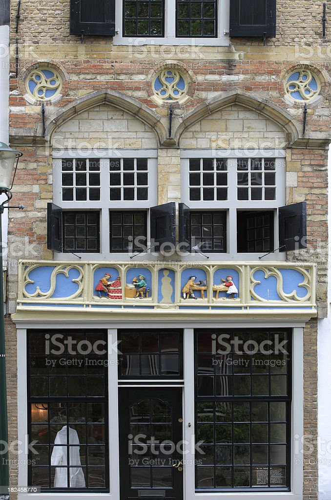richly decorated facade in the centre of Gouda royalty-free stock photo