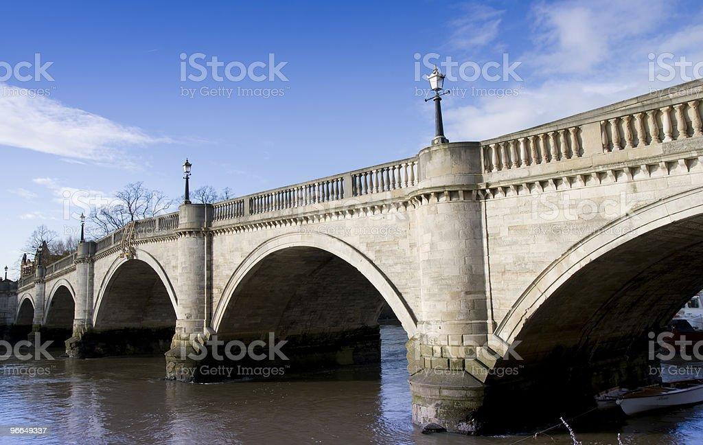 Richmond Bridge in Winter royalty-free stock photo
