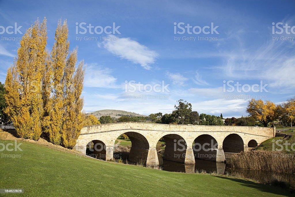 Richmond Bridge Tasmania royalty-free stock photo
