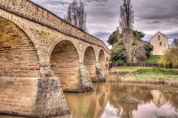 Richmond Bridge Tasmania stock photo