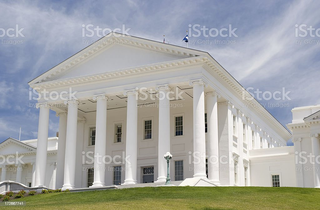 Richmond Capitol Front stock photo