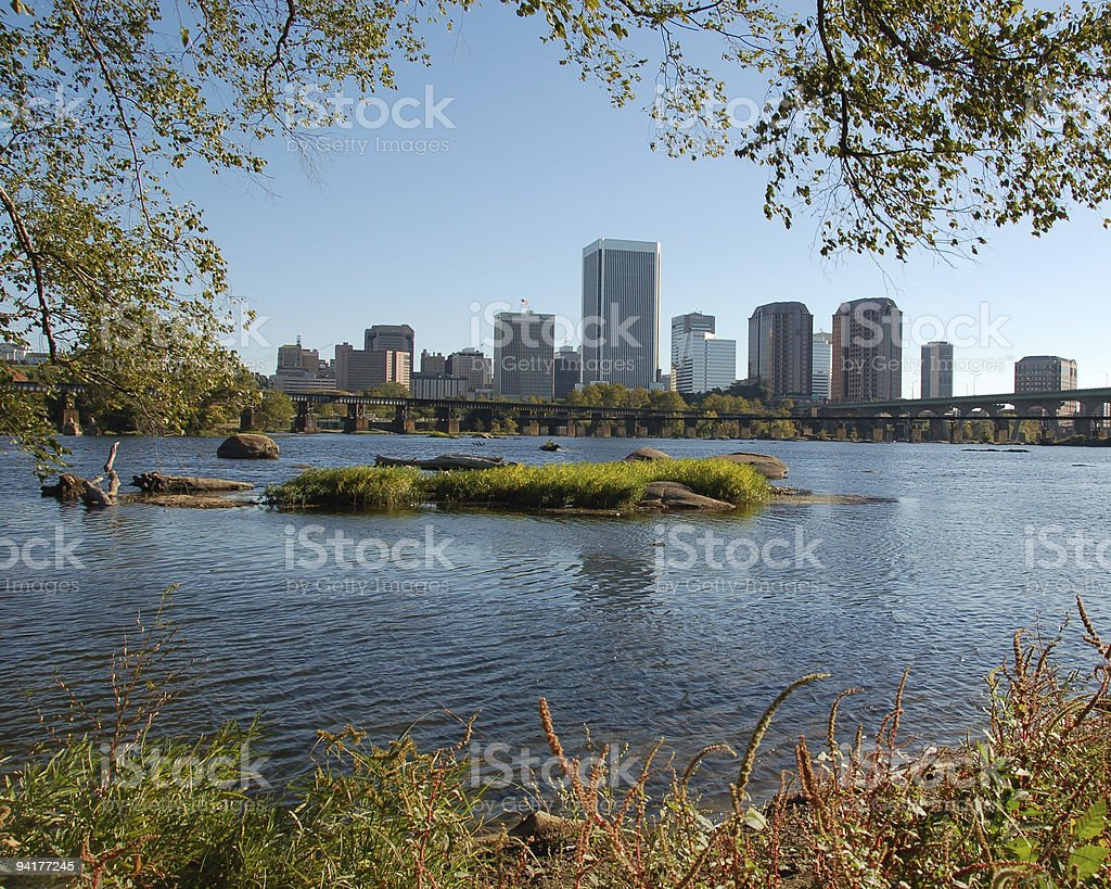 Richmond from Belle Isle stock photo