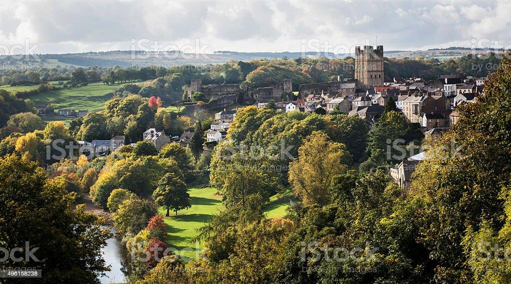 Richmond in North Yorkshire stock photo