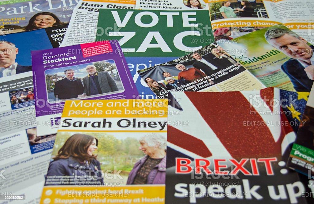 Richmond Park by-election leaflets stock photo
