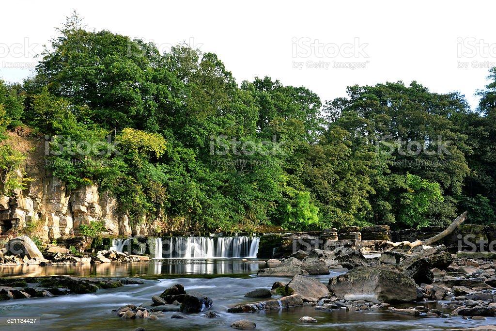 Richmond River Swale Falls stock photo
