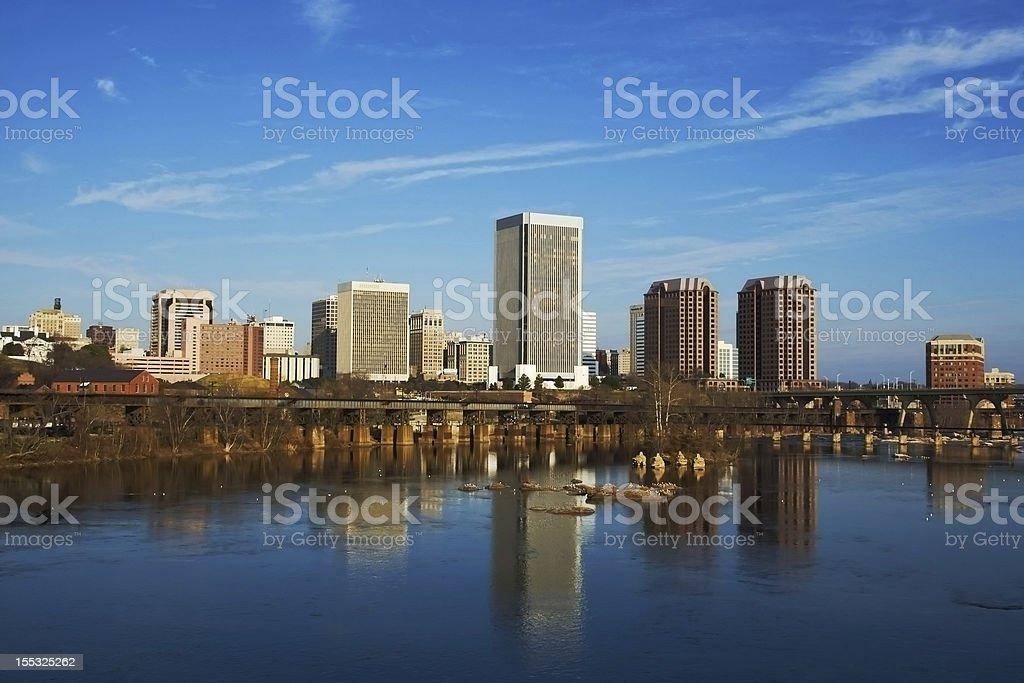 Richmond Skyline at Twilight stock photo