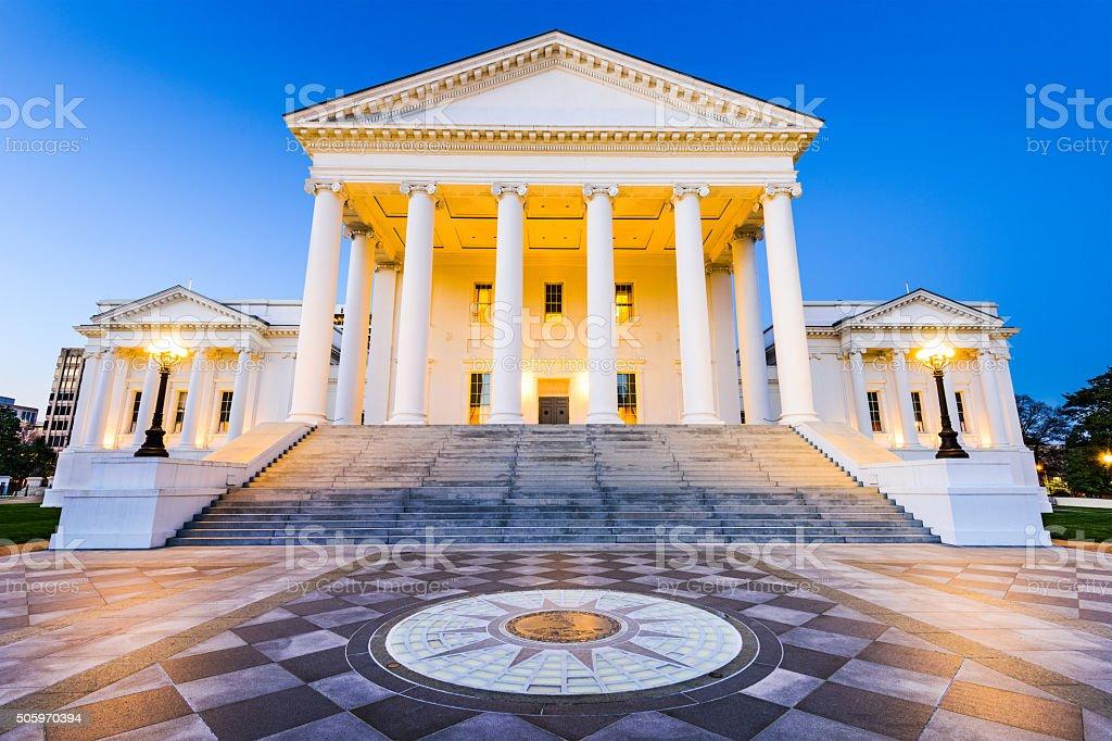 Richmond Virginia State Capitol stock photo