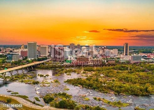 istock Richmond, Virginia, USA Drone Skyline Aerial 1191984043