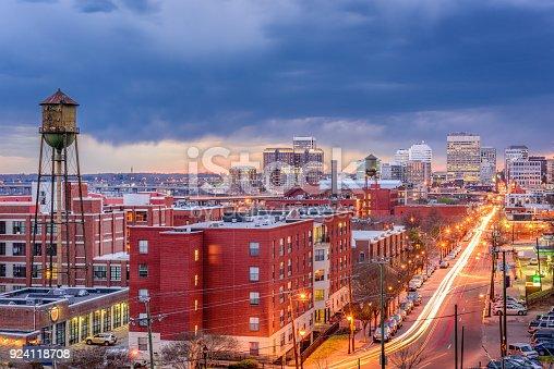 Richmond, Virginia, USA downtown cityscape.