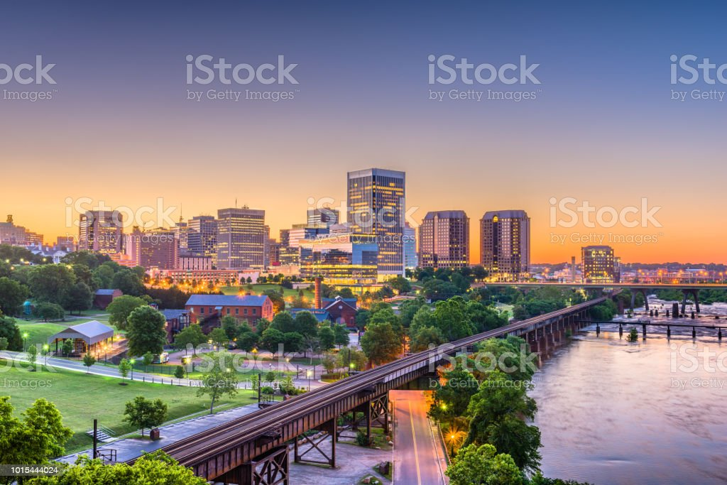 Richmond, Virginia, USA Skylinhe stock photo