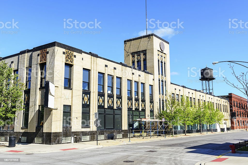 Richters Food Products Building in  Chicago royalty-free stock photo