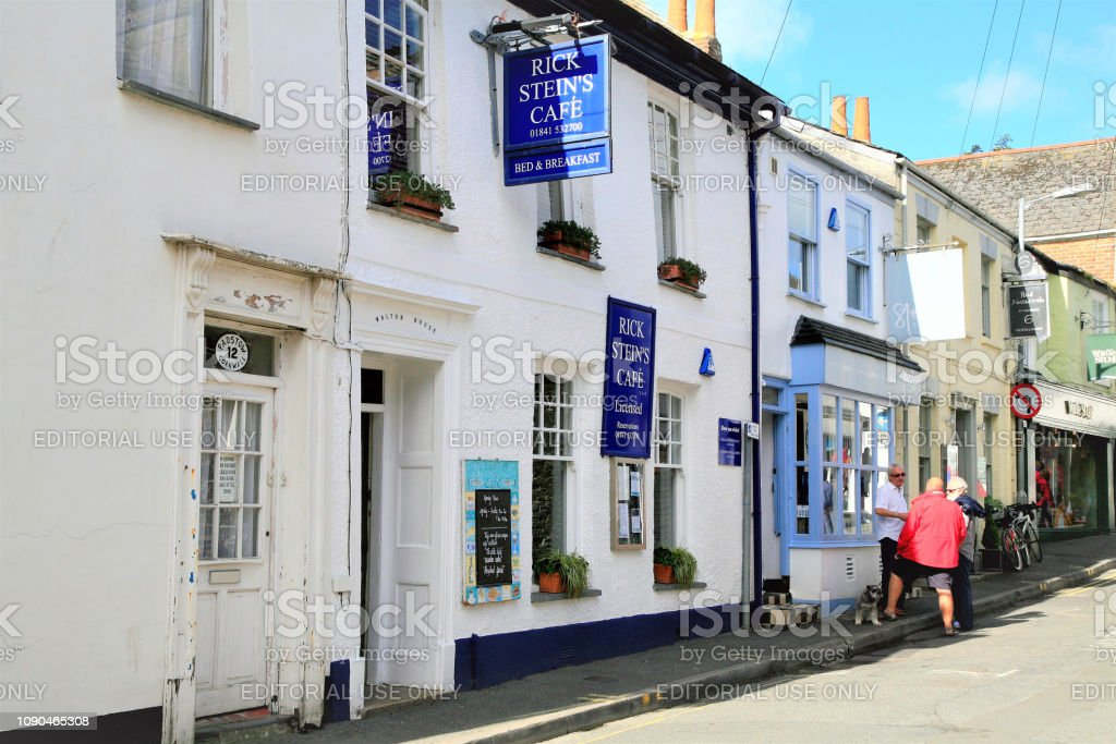 Rick Stein's cafe, Padstow, Cornwall, UK. stock photo