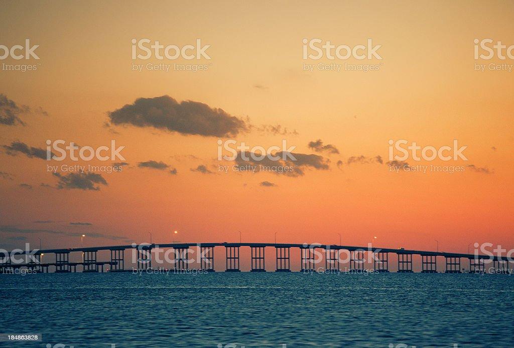 Rickenbacker Causeway stock photo